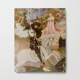 Saint George and the Dragon Medieval Painting Metal Print