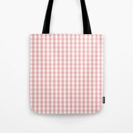 Large Lush Blush Pink and White Gingham Check Umhängetasche