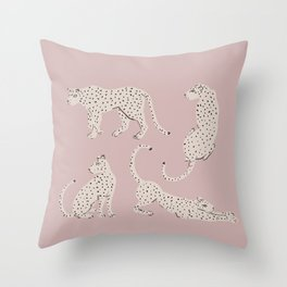 LEOPARD BLOCK PARTY - PINK Throw Pillow
