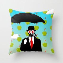 Umbrella Man Throw Pillow