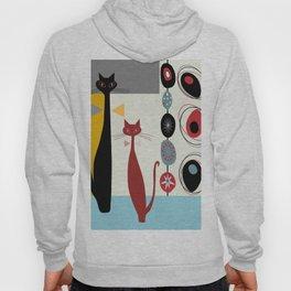 Mid-Century Modern Art Cats Hoody