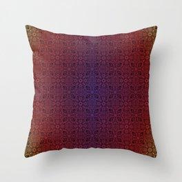 dark mandala repeating pattern - gradient, sunrise  Throw Pillow