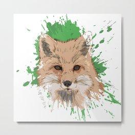 Explosive Fox Metal Print