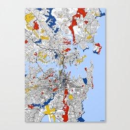 Sydney mondrian Canvas Print