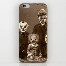 Creepy Clown Family Halloween iPhone Skin