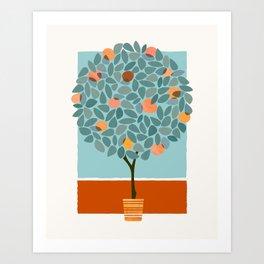 Fruit Tree Geometry Art Print