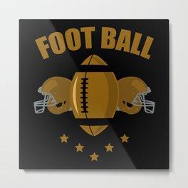 Football two helmet Metal Print