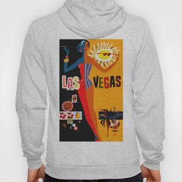 Vintage Las Vegas Travel Poster Hoody