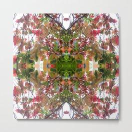 Abstract Fall Mandala 1500 Metal Print