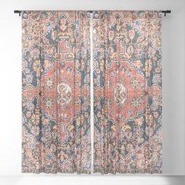 Djosan Poshti West Persian Rug Print Sheer Curtain