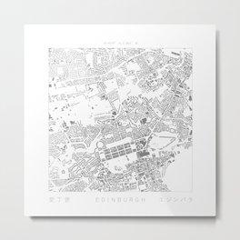 Edinburgh Figure Ground Metal Print