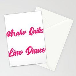 "Line Dancers Western Music ""Some Grandmas Make Quilts Real Grandmas Line Dance"" T-shirt Design Stationery Cards"