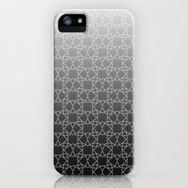 Geometry Star Pattern Black White iPhone Case