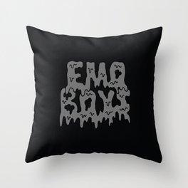 Emo Boys - Black Throw Pillow
