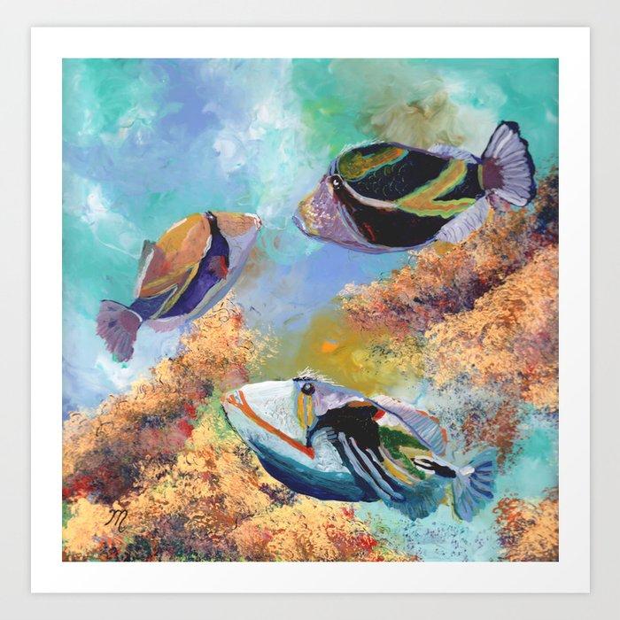 Humuhumu Tropical Fish 3 Kunstdrucke