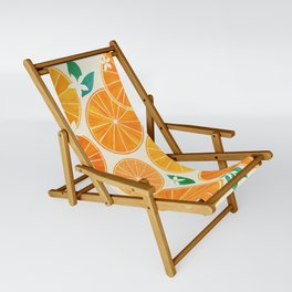 Orange Slices With Blossoms Sling Chair