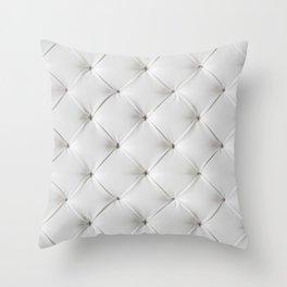White Tufted Throw Pillow