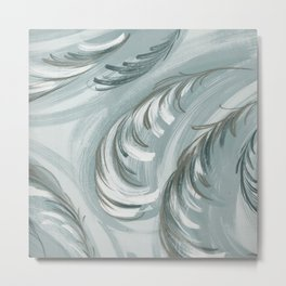 swirling feathers Metal Print