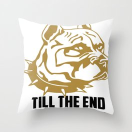 I'm with you till the end of the line funny Throw Pillow