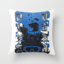 Deep Diving For Diving Fans & Scuba Instructors Throw Pillow