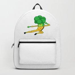Funny Broccoli Vegetable Pun - Kung Fu Veggie Jokes Backpack