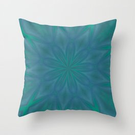 Aurora In Teal Blue and Green Throw Pillow