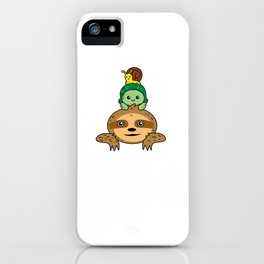 Sloth turtle snail Take it slow iPhone Case