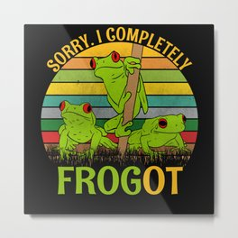 Sorry I Completely Frogot Frogs Frog Metal Print
