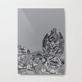 Transformers: Megatron Metal Print