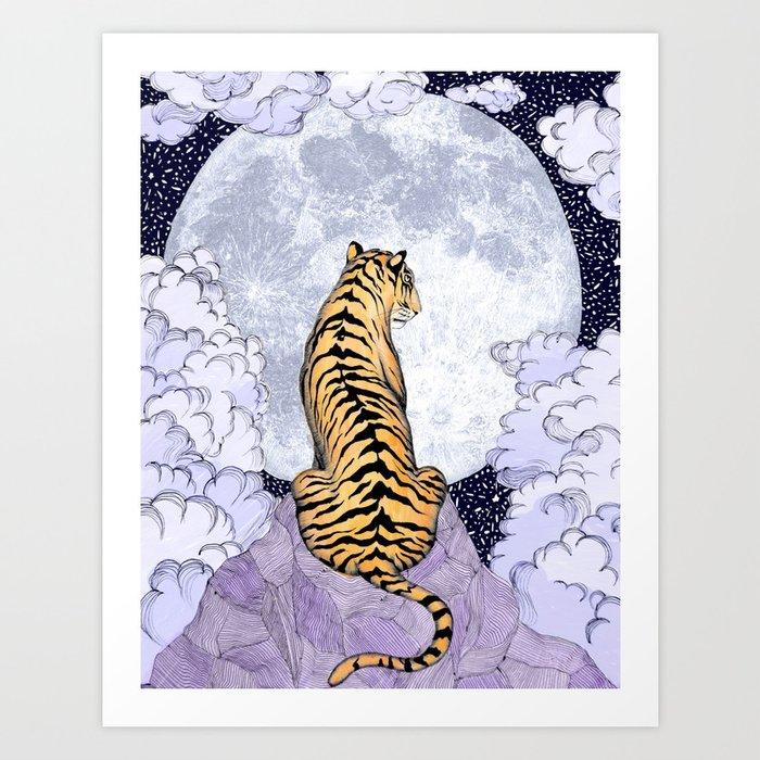 Tiger Moon | Colour Version Kunstdrucke