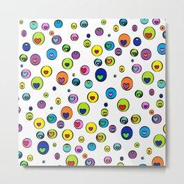 Circle My Hearts (Polka Dot Hearts) - Rasha Stokes Metal Print