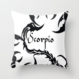 Scorpio Tribal Throw Pillow