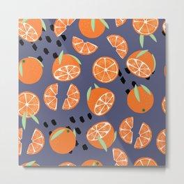 Orange pattern 05 Metal Print