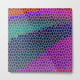Royal Jewels Stained Glass Abstract Art Metal Print