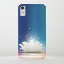 Elegant Gentle  White  Lotus / Lily flower iPhone Case