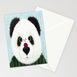 The Panda Bear And His Visitor Stationery Cards