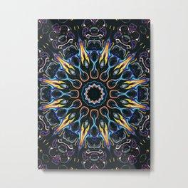 Night Sun Mandala Metal Print