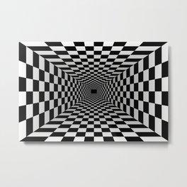 Welcome Door Mat Optical Illusion Vortex 3D Metal Print