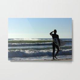 Stoked Surfer Metal Print