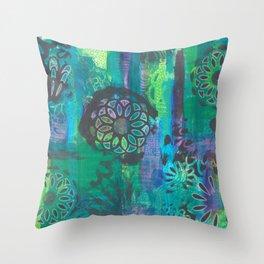 Kalediscopic Peacock Throw Pillow