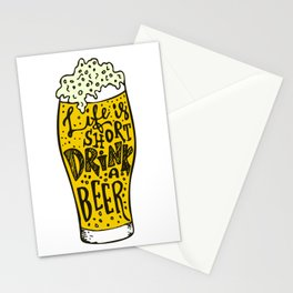 Drink Beer  Stationery Cards