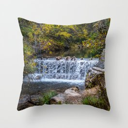 Falls in the Spearfish Canyon area Throw Pillow