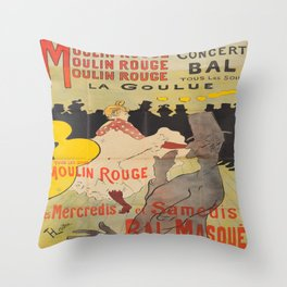Vintage poster - Toulouse Lautrec Throw Pillow
