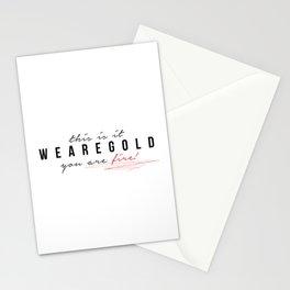 weAreGold Stationery Cards
