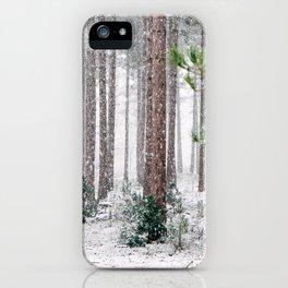 Snowy Pine trees iPhone Case