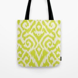 Chartreuse Ikat classic mid century Tote Bag