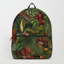 Vintage & Shabby Chic - Green Monkey Banana Jungle Backpack