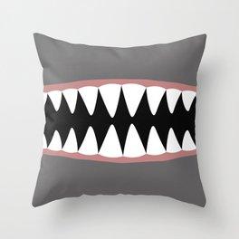 Shark Teeth, Monster, Dinosaur, Alien Throw Pillow