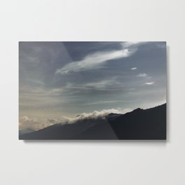 Night Sky Clouds   Nature and Landscape Photography Metal Print