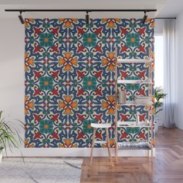 Colorful Azulejos Pattern Wall Mural